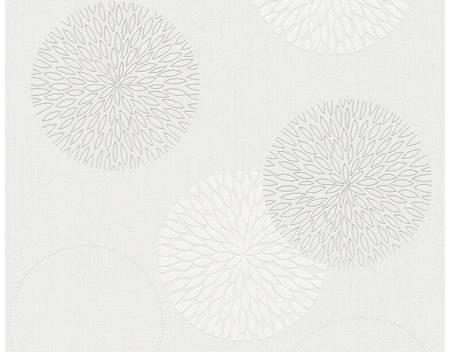 papier peint blanc gris
