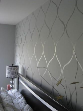 papier peint gris chambre