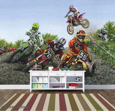 papier peint moto cross