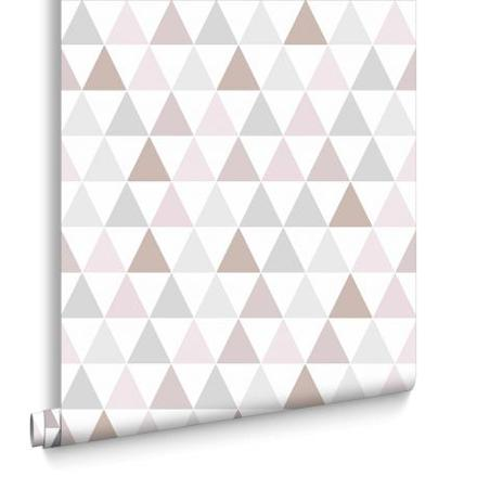 papier peint scandinave rose