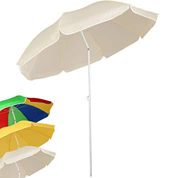 parasol de plage inclinable