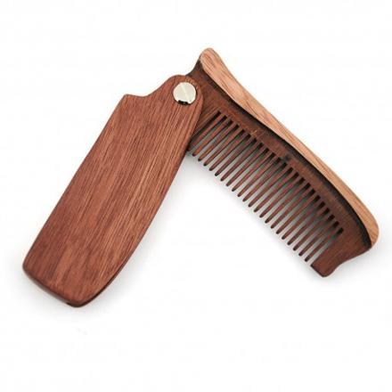 peigne à barbe en bois