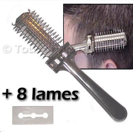 peigne rasoir pour cheveux homme