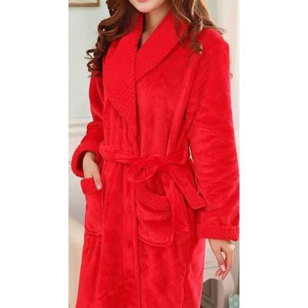 peignoir femme rouge