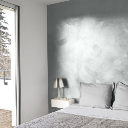 peinture argentée pour mur