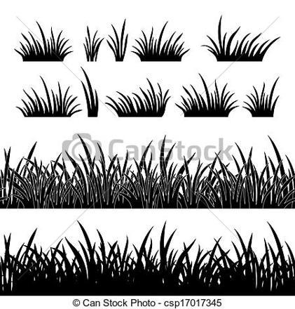 pelouse dessin noir et blanc