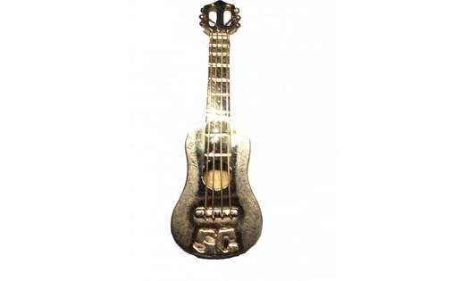 pendentif guitare or