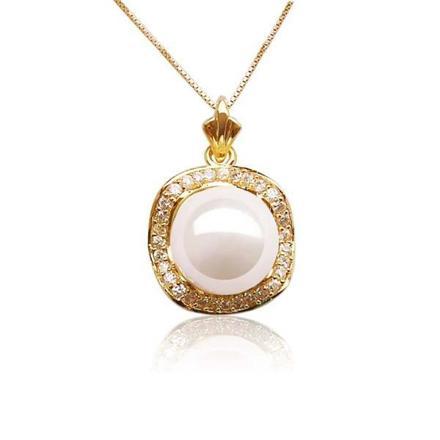 pendentif perle de culture or jaune