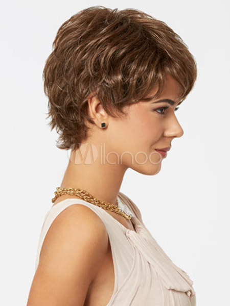 perruque femme courte