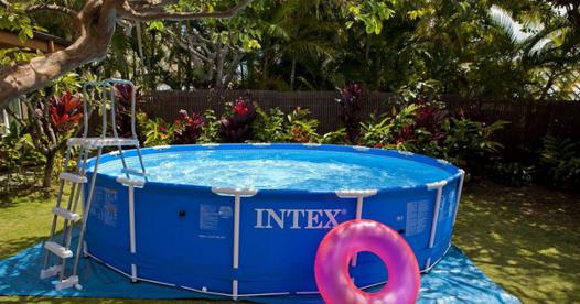 pied piscine intex