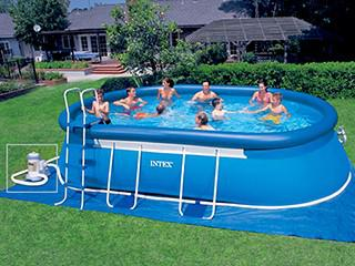 piscine hors sol ovale intex