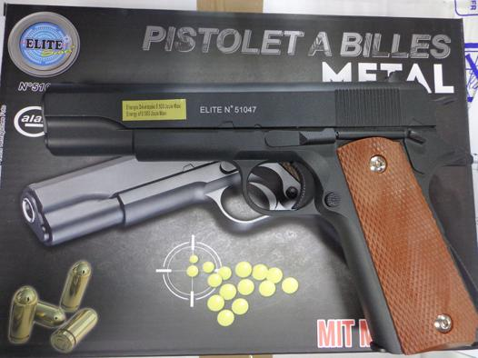 pistolet a bille metal