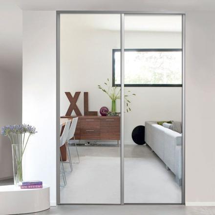 placard porte coulissante miroir