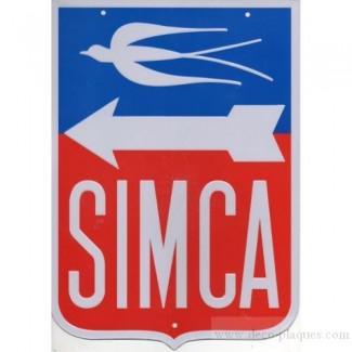 plaque metal publicitaire automobile