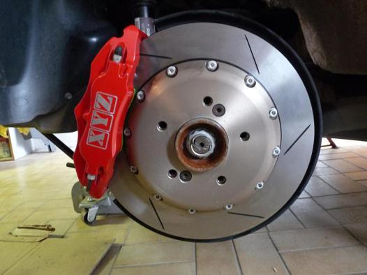 plaquette de frein rouge