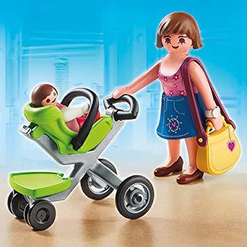 playmobil bébé et poussette