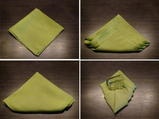 pliage serviette tissu noel facile