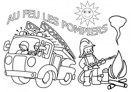pompier dessin