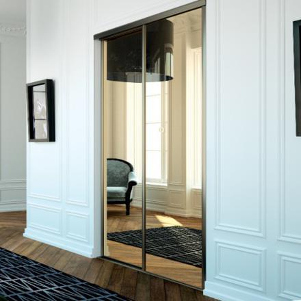 porte placard coulissante miroir
