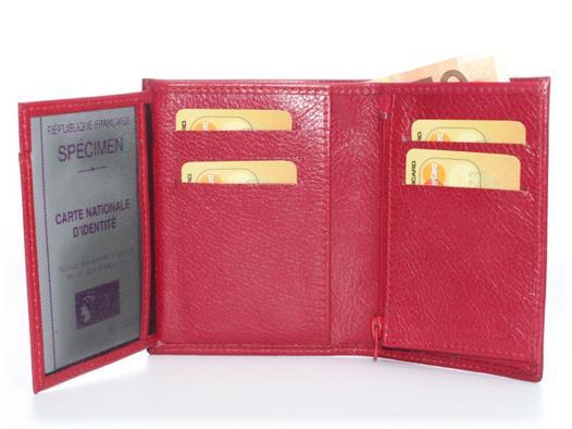 portefeuille rouge femme