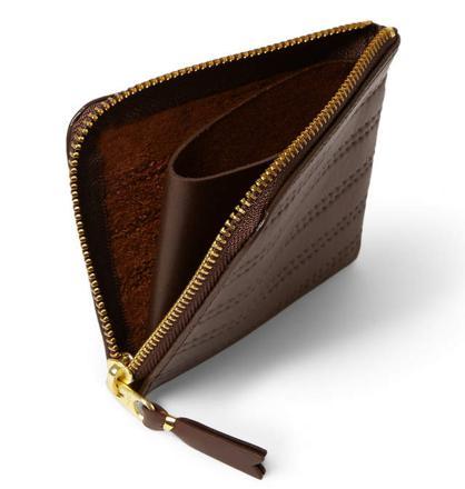 portefeuille zippé homme luxe