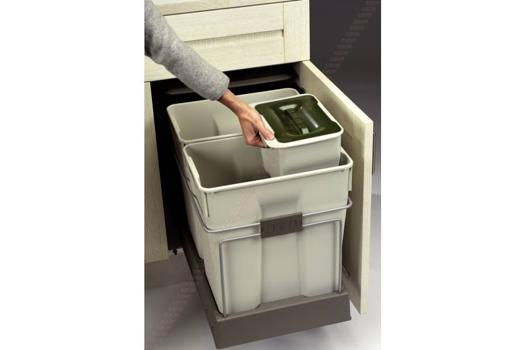 poubelle coulissante 2 bacs 60 litres