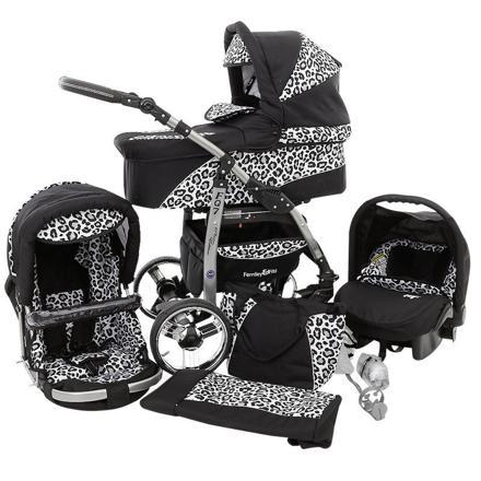 poussette leopard noir