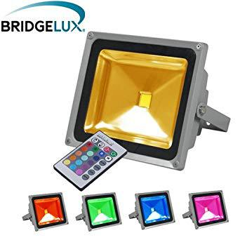 projecteur led multicolor exterieur