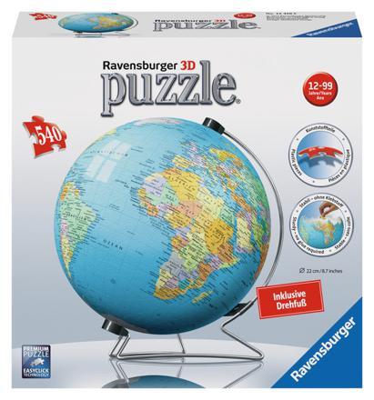 puzzle 3d globe terrestre ravensburger