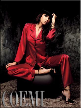 pyjama satin rouge