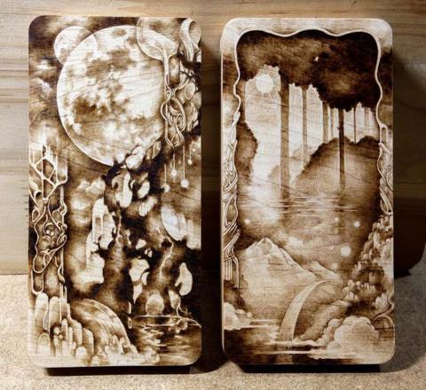 pyrogravure sur bois