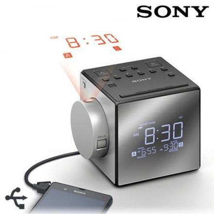 radio réveil avec projecteur