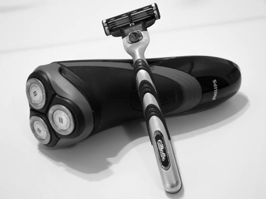 rasoir electrique ou rasoir manuel