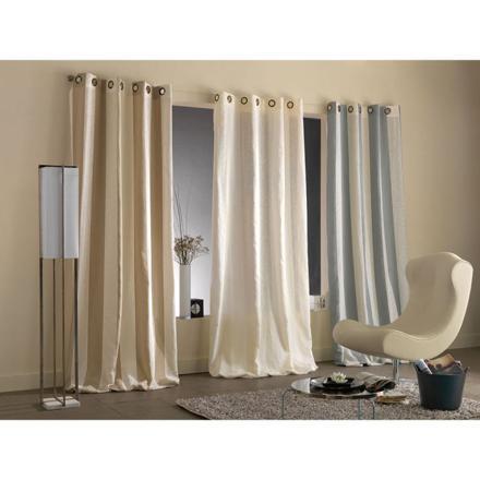 rideau blanc et marron