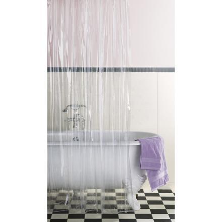 rideau de douche transparent epais