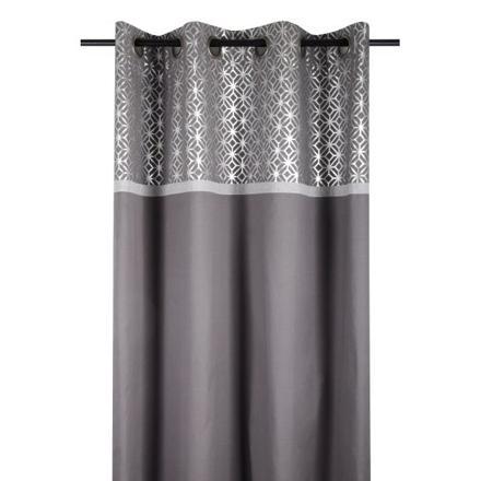 rideau gris argenté