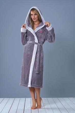 robe de chambre avec capuche