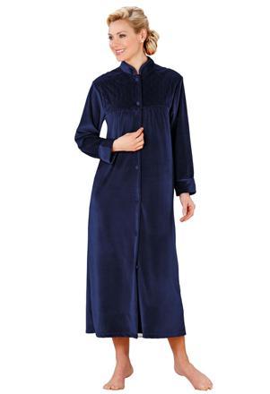 robe de chambre en velours femme