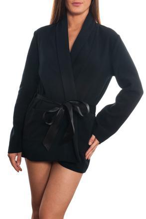 robe de chambre noire