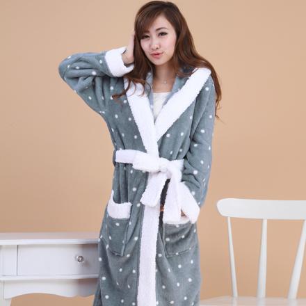 robe de chambre polaire pour femme