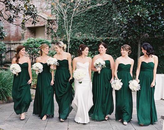 robe demoiselle d'honneur vert