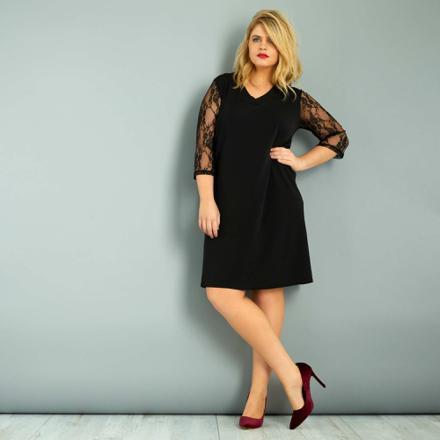 robe dentelle noire grande taille