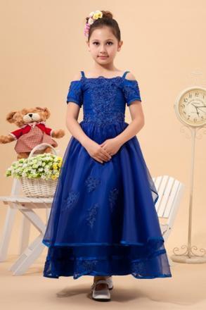 robe fille bleu