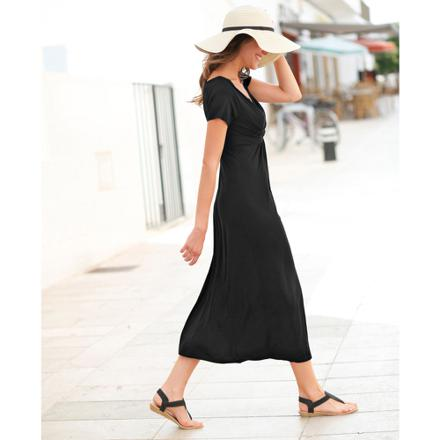robe longue manche courte
