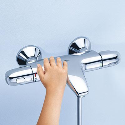 robinet thermostatique grohe bain douche