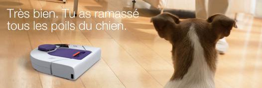 robot aspirateur poils animaux