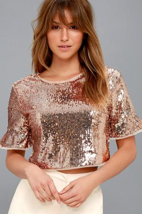 rose gold top