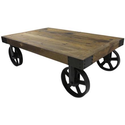 roulette en fer pour table basse