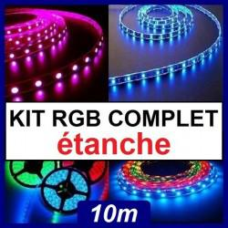 ruban led 10m multicolore