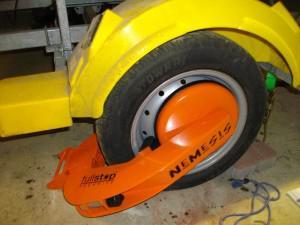sabot de roue antivol remorque